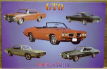 PONTIAC GTO  COLLAGE SIGN GREAT COLLECTION OF CARS, SUPER DETAILS
