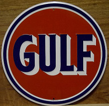 GULF  ROUND SIGN NICE COLOR AND DETAIL