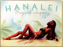 HANALEI SUGAR CO. ENAMEL SIGN DEEP RICH COLOR AND GREAT DETAILS