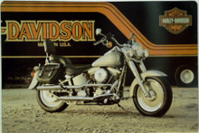 HARLEY FAT BOY MOTORCYCLE SIGN, THIS SIGN IS OUT OF PRINT WITH ONLY TWO LEFT IN STOCK