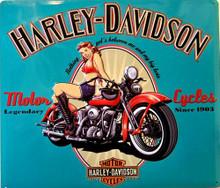 HARLEY LEGENDARY BABE (EMBOSSED) MOTORCYCLE SIGN