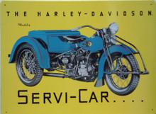 HARLEY  SERVI-CAR (THREE WHEEL BIKE) MOTORCYCLE SIGN