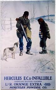 HERCULES 2 MEN & DOG SIGN