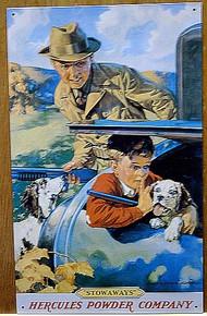 HERCULES BOY IN CAR TRUNK SIGN
