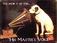 HIS MASTERS VOICE, RCA SIGN
