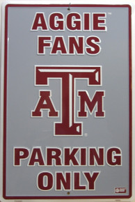 AGGIES COLLEGE FAN EMBOSSED SIGN A GREAT ADDITION FOR YOUR ALMA MATER OR PRESENT COLLEGE
