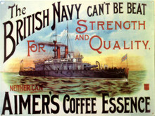 Photo of AIMERS COFFEE BEAUTIFUL ENAMEL SIGN WITH DEEP RICH COLORS AND DETAILS