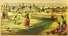 HORSMAN'S LAWN TENNIS SIGN