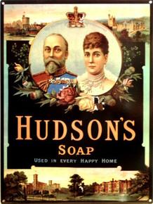 HUDSON'S SOAP ENAMEL SIGN