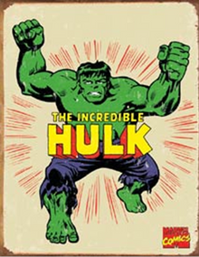 HULK RETRO SUPER HERO SIGN