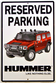 HUMMER PARKING SIGN