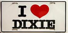 I LOVE DIXIE LICENSE PLATE