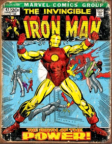 IRON MAN COMIC COVER SIGN