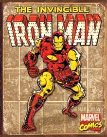 IRON MAN PANELS RETRO SIGN