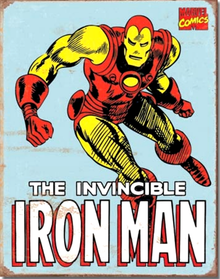 IRON MAN RETRO SIGN