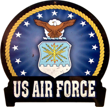 Photo of AIR FORCE RIBBONED HEAVY DUTY METAL SIGN WITH GREAT FINISH FOR CURRENT OR RETIRED AIRMEN & WOMEN