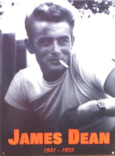 JAMES DEAN SMOKING ENAMEL SIGN