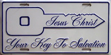 JESUS KEY TO SALVATION LICENSE PLATE