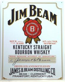 JIM BEAM WHISKEY SIGN