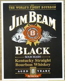 JIM BEAM BLACK LABEL WHISKEY SIGN