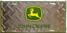 JOHN DEERE (DIAMOND PLATE) LICENSE PLATE