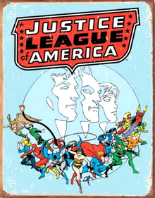 JUSTICE LEAGUE RETRO SIGN