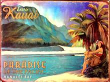 KAUAI, HAWAII ENAMEL SIGN