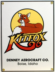 KITFOX PORCELAIN AIRPLANE SIGN