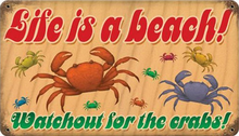 LIFE'S A BEACH  (sublimation process) SIGN