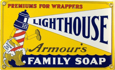LIGHT HOUSE SOAP PORCELAIN SIGN