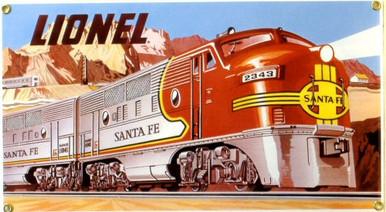LIONEL SANTE FE MODEL TRAIN SIGN