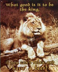 LION W/BEER SIGN
