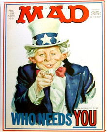 MAD MAGAZINE WHO NEEDS YOU SIGN