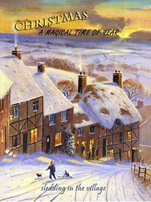 MAGICAL TIME OF THE YEAR ENAMEL CHRISTMAS SIGN