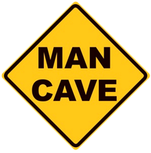 MAN CAVE DIAMOND SIGN