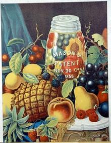 MASON 1858 JAR FRUIT SIGN