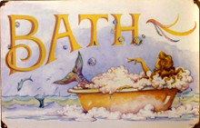 MERMAID BATH (LARGE) (sublimation process) SIGN