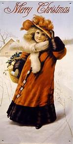 MERRY CHRISTMAS GIRL/SNOW SIGN