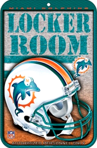 MIAMI DOLPHINS FOOTBALL SIGN