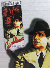 """VINTAGE CASABLANCA SIGN, OUT OF PRINT,  WE HAVE A NUMBER IN STOCK,  MEASURES 12  1/2"""" X 16"""" WITH HOLES FOR EASY MOUNTING"""