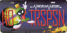 "VIN THE MARTIAN LICENSE PLATE  ""NO TRSPSN""  MEASURES 12"" X 6""  WITH SLOTS FOR EASY MOUNTING"