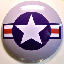 """GREAT 3-D METAL SIGN 15"""" ROUND 2  3/4"""" DEEP DOMED ONE HOLE IN TOP FOR MOUNTING"""