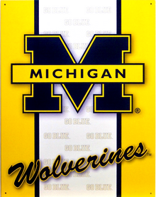 MICHIGAN FANS COLLEGE SIGN