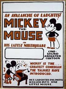 MICKEY MOUSE OLD SCHOOL SIGN