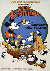 MICKEY & PLUTO OLD SCHOOL SIGN