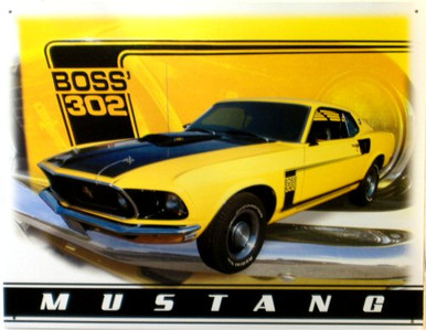 FORD MUSTANG BOSS 302 SIGN