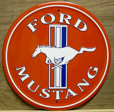 FORD MUSTANG LOGO ROUND SIGN