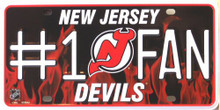Photo of NEW JERSEY DEVILS #1 FAN PLATE