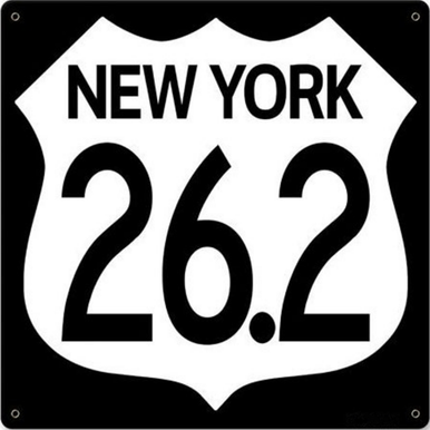 NEW YORK 26.2   MARATHON STOCK SIGN (NOT CUSTOMIZEABLE)