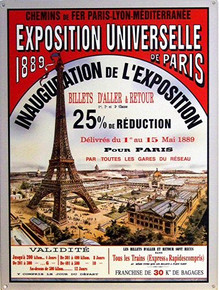 PARIS 1889 EXPO,  FRANCE ENAMEL SIGN
